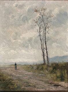 Eliseo Meifrén Roig. Paisaje invernal. Óleo sobre lienzo. Firmado. Fechado en el bastidor el año 1883. 32,2 x 24,3 cm. Subastas Balclis, Barcelona, julio de 2015.