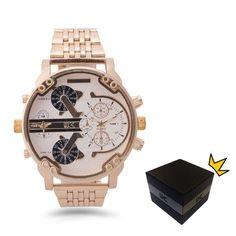 2016 YAKI NEU Herrenuhr Männliche Uhr Herren Armbanduhr Quarz Luxusuhren Gold