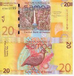 Beautiful Bird Bank Note from Samoa. robertsworldmoney.com
