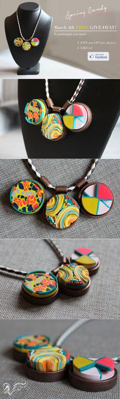 """We're having a FACEBOOK ONLY free giveaway of our SPRING CANDY necklace!  One winner will be announced on TUESDAY, March 4rd (This is open to international readers). To participate: 1. """"LIKE"""" the VeruDesigns, LLC PAGE. 2. Visit the VeruDesigns website and sign-up to our (AWESOME!) bi-weekly VIP-list   DONE!"""