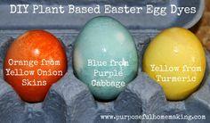 Purposeful Homemaking: DIY Plant Based Easter Egg Dyes