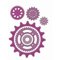 Sprightly Sprockets $24.99 Approximate Die Template Sizes:    1: 1″    2: 1⅛″    3: 1½″    4: 1⅝″    5: 2¾″    6: 4¼″