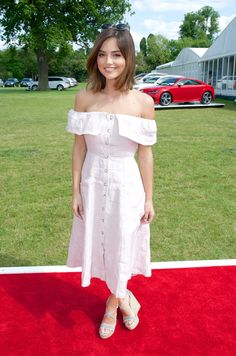 Jenna Coleman at the Audi Polo Challenge Day One, May 30, 2015