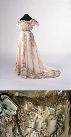 Dress, by the House of Paquin, 1909, at the Met. See: http://www.metmuseum.org/collection/the-collection-online/search/84234?img=0