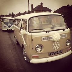 Sally Jo with Tilly at a two Campervan Wedding
