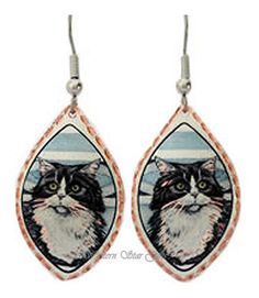 Cat Copper Earrings Bonanza.com
