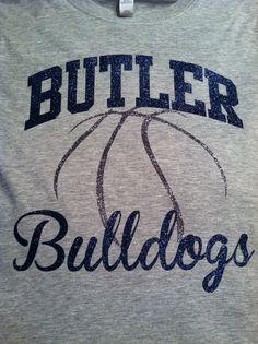 We are Butler Bulldogs! Gunmetal glitter and navy glitter