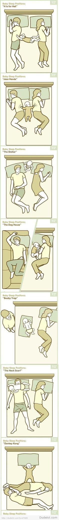 Bebeği ile beraber uyuyup bunları yaşamayan varmıdır acaba :D