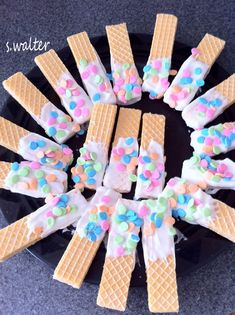 Easy Easter Wafer Cookies - perfect project for kids to decorate themselves!