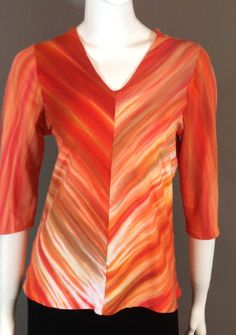 """Hand dyed, Cotton top cut on the double bias for form a """"v"""" front. www.dodadesigns.com Color Blending, Shibori, Tunic Tops, Silk, Clothing, Fabric, Cotton, Women, Fashion"""