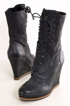 - the heels. if they had army boot bottoms, that'd be cool.