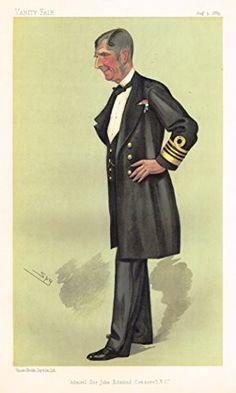 "Vanity Fair ""SPY"" Characterture - ""ADMIRAL SIR JOHN EDMUND COMMERELL"" - Chromolithograph - 1886"