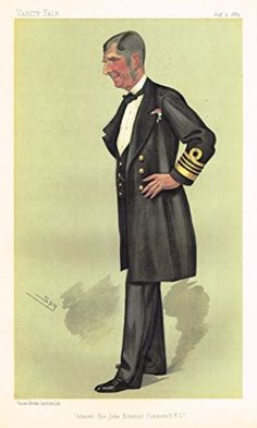 "Vanity Fair ""SPY"" Characterture - ""ADMIRAL SIR JOHN EDMUND COMMERELL"" - Chromolithograph - 1886"