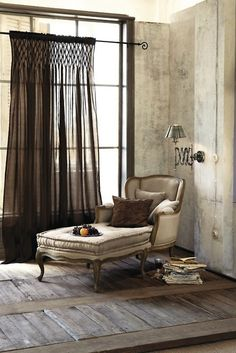 Sheer black curtain French Cottage and Country