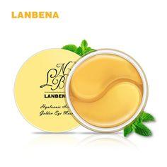 LANBENA Hyaluronic Acid Golden Eye Mask Anti Aging Anti Wrinkles 60pieces