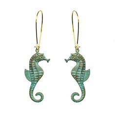 Seahorse Earrings now featured on Fab.