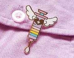 Sweet Syringe Enamel Pin  lolita menhera kawaii by JellyUltra
