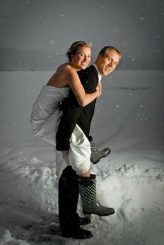 i like the rain or snow boot idea and with the longer dresses it wont look tacky because they wont really even be seen
