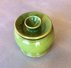 Lime Green Pottery Lidded Jar by CharlestonCeramics on Etsy, $50.00