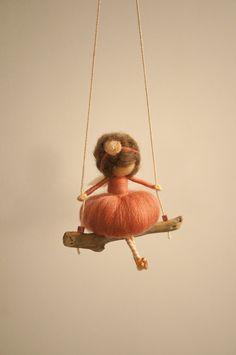 Needle felted fairy figurine by DORIMU on Etsy, $45.00