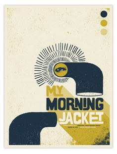 My Morning Jacket concert poster by Nerl Says Design
