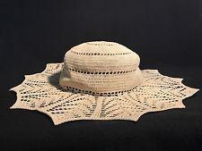 64503af010de8 Antique Womens Crochet Sun Hat Circa Late 1900 s - 1920 s