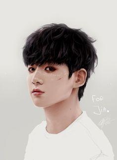 BTS Bangtan Boys   Jungkook fanart; Credit to http://omurizer-draws-things.tumblr.com/