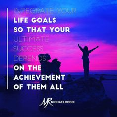 The best way to ensure your grandest success is to interlink all your goals so they all depend on each other to materialize