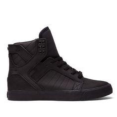 Men-039-s-Supra-Skytop-Chad-Muska-Skateboard-Shoes-08002-001-Black-Red-Sole-Sz-8-11