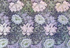 Chrysanthemums wallpaper by William Morris