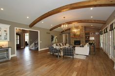 "Clayton Douglas Homearama 2014 home ""Bella Noelle"" Additional Photo  Living Room and Foyer"