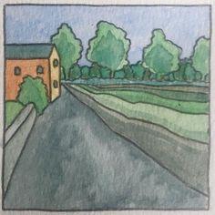 Watercolour 7cmx7cm #watercolor #watercolour #mayo #irishart #landscape #kiltimagh Watercolor Illustration, Watercolour, Land Scape, Iris, Illustrations, Painting, Pen And Wash, Watercolor Painting, Irise