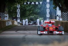 The #Ferrari #F10 joins the #Ferrari70 celebrations on the #Goodwood hillclimb #WorldTour