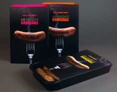 Mr Singh's Bangras indian sausage packaging with henna inspired sausages