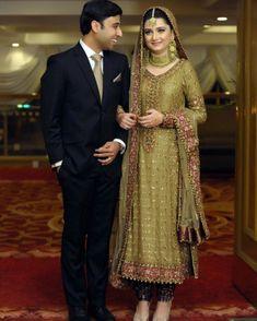 #couplesgoals #pakistanibeauty #gorgeous #pakistanibride #pakistanibrides #asianbrides #desibrides #bridalglamour #weddingceremony… Shadi Dresses, Pakistani Formal Dresses, Pakistani Wedding Outfits, Pakistani Wedding Dresses, Pakistani Dress Design, Indian Dresses, Latest Bridal Dresses, Wedding Dresses For Girls, Bridal Outfits
