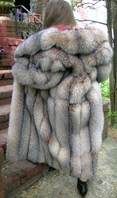 Fox Fur Coat, you can count how many it used to make the coat, horrible