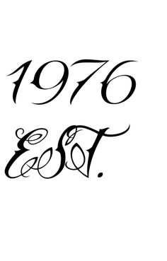 1976 tattoo | This 1976 EST. Tattoo was created using our unique service. Tattoo ...