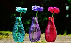 Make instant vases for flowers It's all about to collect your raw glass bottles which are similar with each other, get some wrapping papers and glue with you. Now, use your creativity and pastes these wrapping covers on bottles by cutting in different patterns and designs and you'll get awesome vases ready to put fresh flowers every day and rejoice the home decor at fullest.