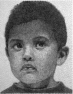 Son Cosas Mías! » Blog Archive » Retratos hechos con un único hilo