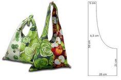 Molde para hacerte bolsos de tela