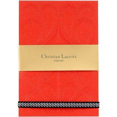 Christian Lacroix A6 Paseo Embossed Notepad - Scarlet (58.980 COP) ❤ liked on Polyvore featuring home, home decor, stationery and red