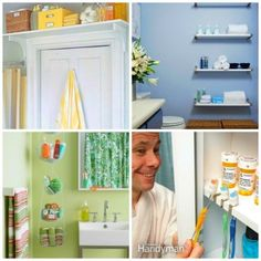 Clver bathroom storage solutions from HousewifeHowTos.com