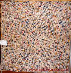 19th century quilt. Looks like an abstract art quilt to me.  Oh to be so industrious.