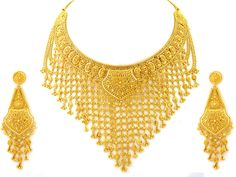 india products | Indian Jewellery 112.90g 22kt Gold Heavy Necklace Set 135