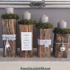 Simple And Popular Christmas Decorations; Christmas Decor DIY dekoration wohnung Simple And Popular Christmas Decorations Noel Christmas, Rustic Christmas, Christmas Themes, Christmas Crafts, Christmas Ornaments, Centerpiece Christmas, Christmas Candles, Xmas Decorations, Advent Wreath