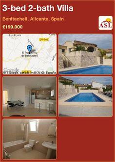 3-bed 2-bath Villa in Benitachell, Alicante, Spain ►€199,000 #PropertyForSaleInSpain