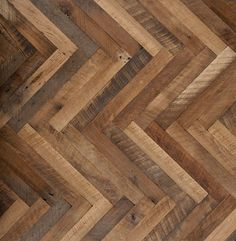 The elegance of a herringbone combined with the rugged qualities of a Hit Or Miss Reclaimed Oak. Two great things that work great together. Finished i