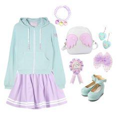 Mint x Lilac♡ Pastel Goth Fashion, Kawaii Fashion, Lolita Fashion, Cute Fashion, Fashion Outfits, Kids Outfits, Cool Outfits, Casual Outfits, Kawaii Clothes
