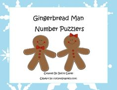 FREE Counting/Skip Counting Leveled Gingerbread Man Number Puzzlers...If you vote/rate this product after download, you can have one free one dollar item from my store! Just leave your email with your rating, or message me it along with your item request. Thank you!