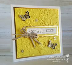 Art with Heart Colour Creations blog hop. Stampin' Up! Country Floral Dynamic TIEF and Pineapple Punch.